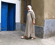 Woman outside her house in the Tunis Medina, 2008.
