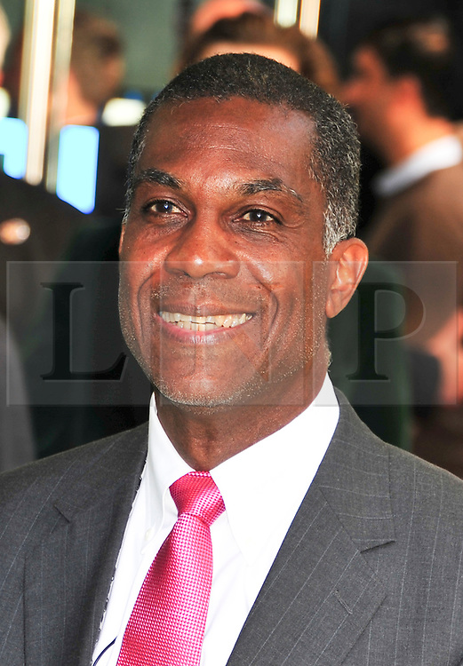© licensed to London News Pictures. London, UK.  09/05/11. Joel (aka Big Bird) Garner west indian cricketer attends the London premiere of Fire in Babylon in Leicester Square . Please see special instructions for usage rates. Photo credit should read AlanRoxborough/LNP