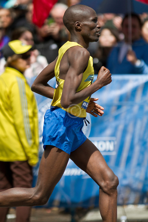 2013 Boston Marathon: Wesley Korir finishes