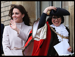 The Duchess of Cambridge on the balcony of the Guildhall   in Cambridge, Wednesday , 28th November 2012. .Photo by: Stephen Lock / i-Images