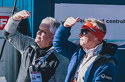 15.02.2020, Kulm, Bad Mitterndorf, AUT, FIS Ski Flug Weltcup, Kulm, Herren, im Bild v.l.: FIS Material Kontrolleur Sepp Gratzer, FIS Renndirektor Walter Hofer // f.l.: FIS Coordinator Equipment Control Sepp Gratzer FIS Racedirector Walter Hofer during his Jump for the men's FIS Ski Flying World Cup at the Kulm in Bad Mitterndorf, Austria on 2020/02/15. EXPA Pictures © 2020, PhotoCredit: EXPA/ JFK