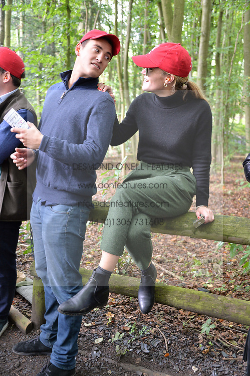 Alexander Kerr and Ella Hadsley-Chaplin at Young Guns raising money for the fight against breast cancer trough Cancer Research UK held at EJ Churchill Shooting School followed by lunch at West Wycombe Park, England. 23 September 2017.