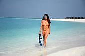 EXCLUSIVE - Lizzie Cundy Bikini Maldives