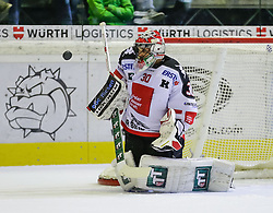 4.10.2015, Messestadion, Dornbirn, AUT, EBEL, Dornbirner Eishockey Club vs HC TWK Innsbruck Die Haie, 8. Runde, im Bild Andy Chiodo, (HC TWK Innsbruck, #30)// during the Erste Bank Icehockey League 8th round match between Dornbirner Eishockey Club and HC TWK Innsbruck Die Haie ers at the Messestadion in Dornbirn, Austria on 2015/10/04, EXPA Pictures © 2015, PhotoCredit: EXPA/ Peter Rinderer