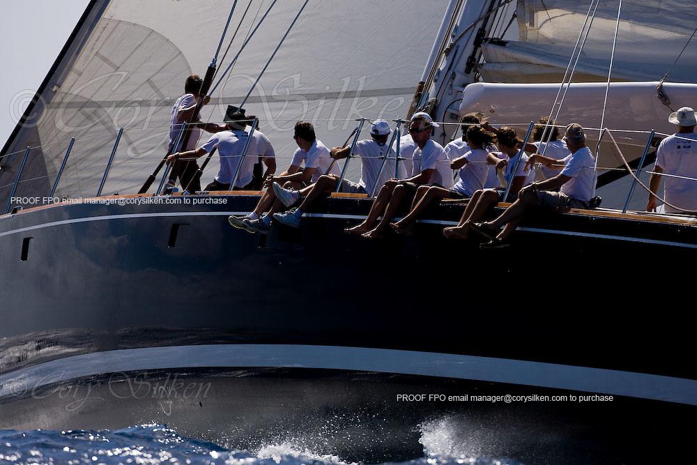 Kalikobass II racing at the Superyacht Cup Regatta.