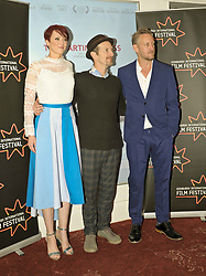 Edinburgh International Film Festival, Sunday, 24th June 2018<br /> <br /> THE PARTING GLASS (WORLD PREMIERE)<br /> <br /> Pictured:  Producer Cerise Hallam Larkin, Denis O'Hare and Mark Larkin <br /> <br /> (c) Aimee Todd | Edinburgh Elite media