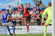 Morecambe Defender Alex Whitmore during the EFL Sky Bet League 2 match between Morecambe and Carlisle United at the Globe Arena, Morecambe, England on 8 October 2016. Photo by Pete Burns.