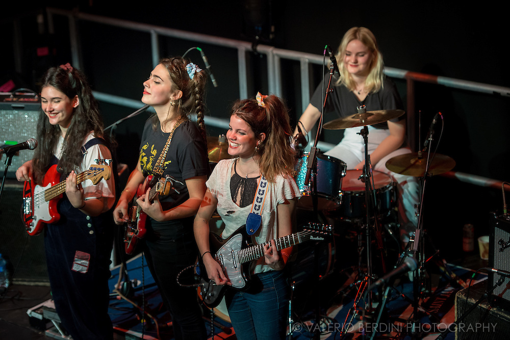 Spanish band Hinds live at the Cambridge Junction on 15 Feb 2016