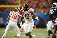 Ole Miss defensive end C.J. Johnson (10) vs. TCU in the Peach Bowl, in Atlanta, Ga. on Wednesday, December 31, 2014.