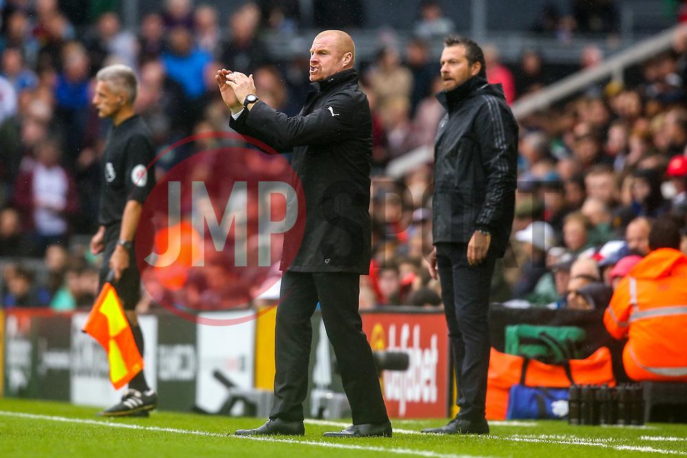 Burnley manager Sean Dyche - Mandatory by-line: Robbie Stephenson/JMP - 26/08/2018 - FOOTBALL - Craven Cottage - Fulham, England - Fulham v Burnley - Premier League