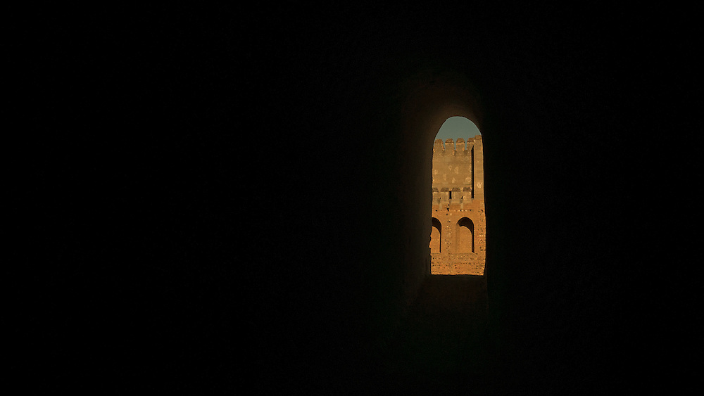 Emperor's Renaissance-style residence with a grand courtyard and museums within the Alhambra.