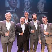 NLD/Amsterdam/20171018 - Premiere De Verleiders: Stem Kwijt, Marcel Hensema, Tom de Ket,, Leopold Witte, Victor Low, George van Houts