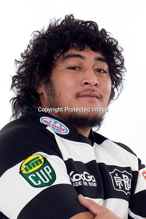 Logovii Mulipola, Hawkes Bay Magpies, team headshots. ITM Cup provincial rugby union. Hawkes Bay, New Zealand. Photo: Design Studio/HBRU