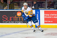 KELOWNA, BC - DECEMBER 01: Eric Florchuk #17 of the Saskatoon Blades warms up against the Kelowna Rockets  at Prospera Place on December 1, 2018 in Kelowna, Canada. (Photo by Marissa Baecker/Getty Images)