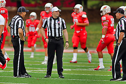 NORMAL, IL - October 06: Jim Swider, Matt Packowski, Jim Scifres during a college football game between the ISU (Illinois State University) Redbirds and the Western Illinois Leathernecks on October 06 2018 at Hancock Stadium in Normal, IL. (Photo by Alan Look)
