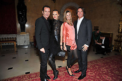 Left to right, ROBERT HANSON and MARSHA MARKOVA, TIM & MALIN JEFFERIES at a party to celebrate 300 years of Tatler magazine held at Lancaster House, London on 14th October 2009.