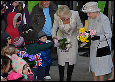 DEC 10 2013 The Queen and The Duchess of Cornwall open Barnardos Hq