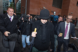© Licensed to London News Pictures . 26/10/2013 . Manchester , UK . RAY TERET leaves Manchester Magistrates ' Court this morning ( Saturday 26th October 2013 ) after being given bail . Teret , who is Jimmy Savile 's former chauffeur and flatmate , is charged 32 counts , including rape and sexual assault . Photo credit : Joel Goodman/LNP