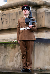 Remembrance Sunday Barnsley  corner Guard<br /> <br />  Copyright Paul David Drabble<br />  10 November 2019<br />  www.pauldaviddrabble.co.uk