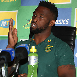 Siya Kolisi (captain) of South Africa during the South African - Springbok Captain&rsquo;s media briefing, Tsogo Sun Montecasino Hotel <br /> Johannesburg .South Africa. 08,06,2018 Photo by (Steve Haag Sports)