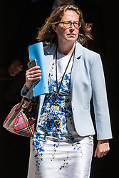 London, UK. 16 July, 2019. Baroness Evans of Bowes Park, Leader of the House of Lords and Lord Privy Seal, leaves 10 Downing Street following a Cabinet meeting.