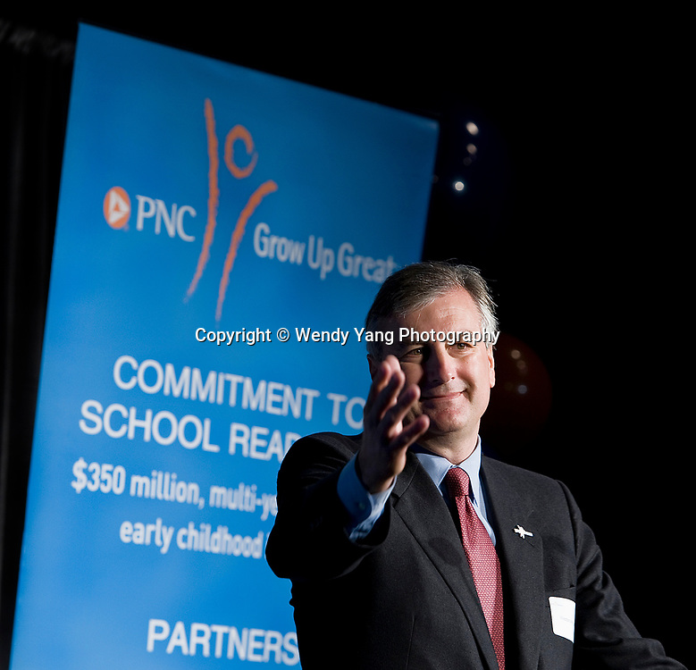 CHARLOTTE, Nov. 14, 2012 -  Weston M. Andress, PNC regional president of Western Carolina, speaking on behalf of The PNC Foundation, announced Wednesday it's plan to establish a two-year grant to support early-childhood education efforts at the Bethlehem Center, Discovery Place, and Community School of the Arts. Photo by Wendy Yang Photography