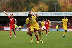 Ellis Harrison of Bristol Rovers under pressure - Mandatory by-line: Jason Brown/JMP - 05/11/2016 - FOOTBALL - Checkatrade.com Stadium - Crawley, England - Crawley Town v Bristol Rovers - Emirates FA Cup first round