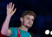 Tennis - 2017 Nitto ATP Finals at The O2 - Day Eight<br /> <br /> Final : Grigor Dimitrov (Bulgaria) Vs David Goffin (Belguim) <br /> <br /> A relaxed looking David Goffin (Belguim) enters the arena at the O2 Arena <br /> <br /> COLORSPORT/DANIEL BEARHAM