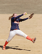 Middletown, NY - SUNY Orange pitcher Ashlee  Renwick winds up during a women's softball against Gloucester County College on March 29, 2008.