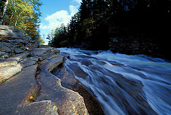 Ammonoosuc River -lower falls. Cohos Trail. Fall.  White Mountain N.F., NH