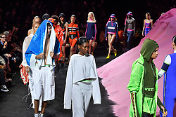 Models walks on the runway during the Fenty X Puma Rihanna Fashion show at New York Fashion Week Spring Summer 2018 held in New York, NY on September 10, 2017. (Photo by Jonas Gustavsson/Sipa USA)