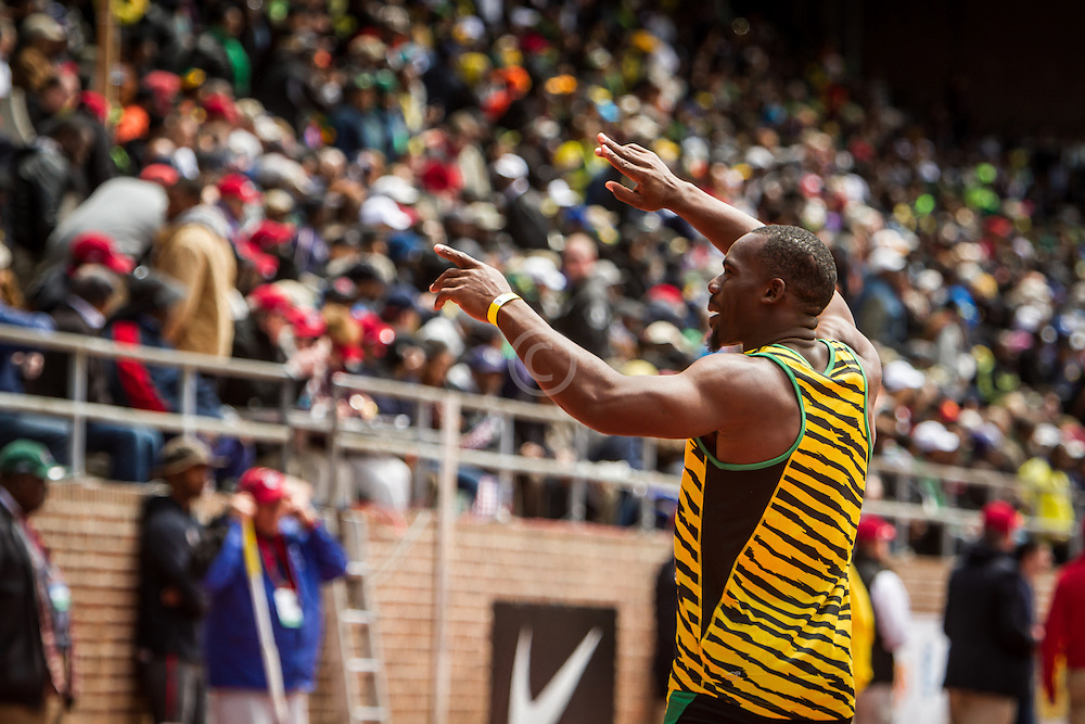 Penn Relays, USA vs the World, 4x 100 meters, Jamaica, Nesta Carter