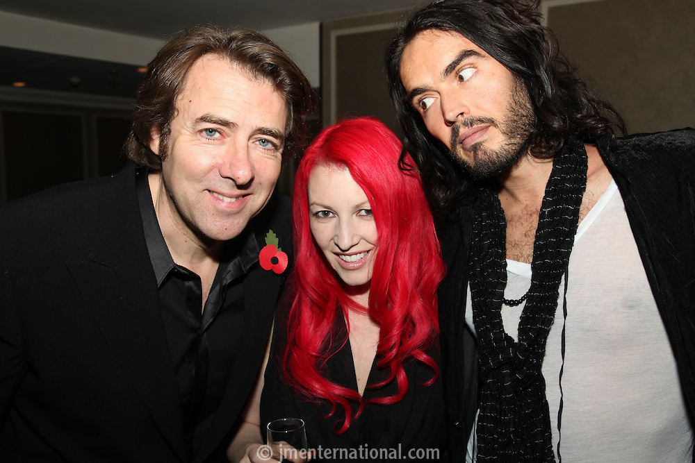 Jonathan Ross, Jane Goldman (JR Wife) and Russell Brand