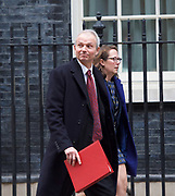 Cabinet Meeting <br /> 10 Downing Street London, Great Britain <br /> 29th March 2017 <br /> <br /> departures following the final cabinet meeting before Article 50 is triggered in Parliament today.<br /> <br /> David Lidington MP<br /> Leader of the Commons <br /> <br /> <br /> Photograph by Elliott Franks <br /> Image licensed to Elliott Franks Photography Services