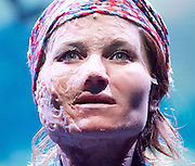 Ugly Lies The Bone <br /> by Lindsey Ferrentino<br /> at The Lyttelton Theatre, London, Great Britain <br /> Press photocall <br /> 28th February 2017 <br /> <br /> <br /> Kate Fleetwood as Jess<br /> <br /> <br /> <br /> Photograph by Elliott Franks <br /> Image licensed to Elliott Franks Photography Services
