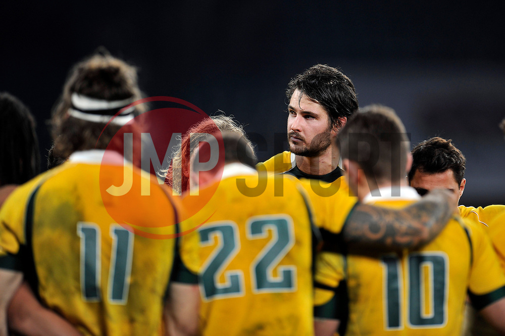 Sam Carter of Australia looks on after the match - Photo mandatory by-line: Patrick Khachfe/JMP - Mobile: 07966 386802 29/11/2014 - SPORT - RUGBY UNION - London - Twickenham Stadium - England v Australia - QBE Internationals