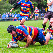 Action during the semi-final of the Jubilee Cup Premier rugby union game played between Tawa  v Northern United  played at  Lyndhurst Park, Tawa , Wellington, New Zealand, on 20 July 2019.   Final score 18-17 to Northern United