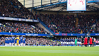 Football - 2019 / 2020 Premier League - Chelsea vs. Crystal Palace<br /> <br /> The two teams observe a minutes silence at Stamford Bridge <br /> <br /> COLORSPORT/DANIEL BEARHAM