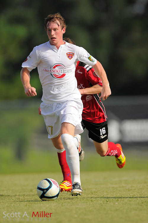 Orlando City midfielder Alexander McDonald (17) in action during the Orlando City U23s 2-1 win over the Laredo Heat in their PDL Southern Conference Championships playoff game at Trinity Catholic High Schooll on July 20, 2012 in Ocala, Florida. ..©2012 Scott A. Miller