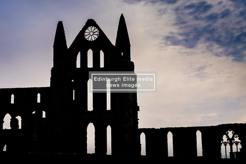 Whitby Abbey - a ruined Benedictine abbey overlooking the North Sea on the East Cliff above Whitby in North Yorkshire, England.<br /> <br /> (c) Andrew Wilson | Edinburgh Elite media