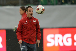 04.03.2014, AFG Arena, St. Gallen, SUI, Training der Schweizer Nationalmannschaft, vor dem Testspiel gegen Kroatien, im Bild Steve von Bergen (SUI) // during a practice session of swiss national football team prior to the international frindley against Croatia at the AFG Arena in St. Gallen, Switzerland on 2014/03/04. EXPA Pictures © 2014, PhotoCredit: EXPA/ Freshfocus/ Andy Mueller<br /> <br /> *****ATTENTION - for AUT, SLO, CRO, SRB, BIH, MAZ only*****