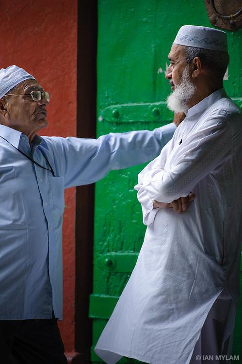 Two Men Talking - NIzamuddin, Old Delhi, India