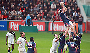 Stade Francais win a lineout. Stade Toulousain v Stade Francais, 9eme Journee, Top 14, Rugby, Stade Ernest Wallon, Toulouse, France, 29th October 2011.