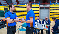 AMSTERDAM  - Coen van Bunge en tijdens het starttoernooi zaalhockey in Sporthallen Zuid.    COPYRIGHT KOEN SUYK
