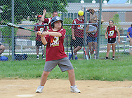 Cole Damiani hits the ball during the Miracle League Festival, a softball tournament for players with intellectual and physical challenges at George School Saturday June 20, 2015 in Newtown, Pennsylvania. (Photo by William Thomas Cain)