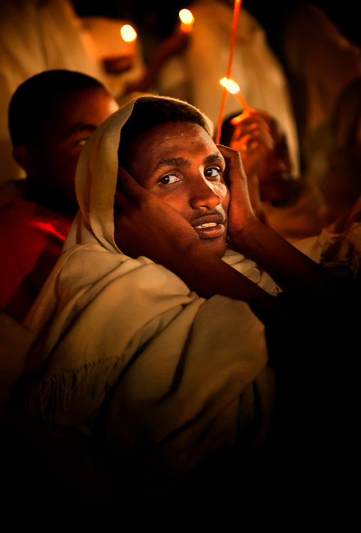 Gondar, Gonder, Timkat, night portrait