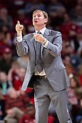 FAYETTEVILLE, AR - MARCH 9:  Assistant Coach and former Arkansas Head Coach John Pelphrey of the Alabama Crimson Tide directs the team during a game against the Arkansas Razorbacks at Bud Walton Arena on March 9, 2019 in Fayetteville, Arkansas.  The Razorbacks defeated the Crimson Tide 82-70.  (Photo by Wesley Hitt/Getty Images) *** Local Caption *** John Pelphrey
