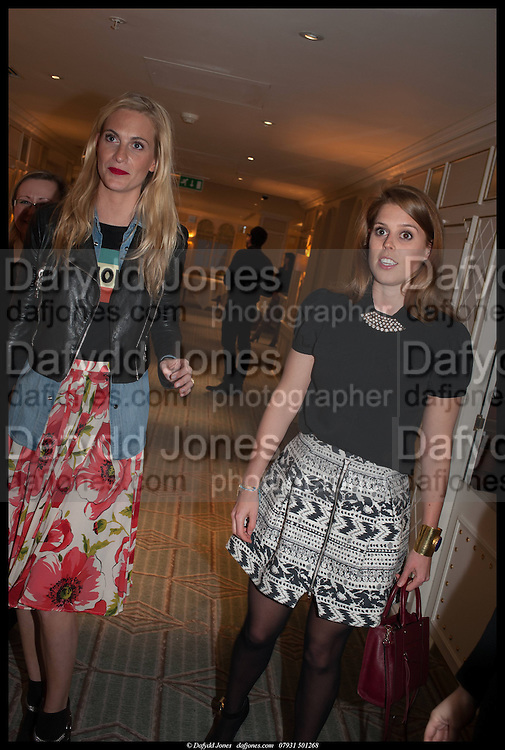POPPY DELEVIGNE; PRINCESS BEATRICE, Alice in her Palace party, Alice Naylor-Leyland launch of her  blog, Alice in her Palace, Drawing Room at Fortnum & Mason. 27 March 2014