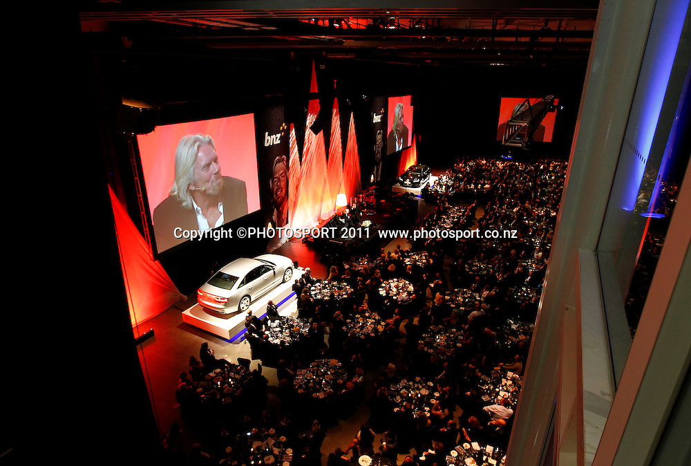 General view during the Duco Event, Sir Richard Branson Live in Auckland, Viaduct Events Centre,  Auckland, New Zealand. Thursday 20 October 2011. Photo: Simon Watts / photosport.co.nz