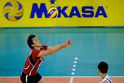 08-07-2010 VOLLEYBAL: WLV NEDERLAND - ZUID KOREA: EINDHOVEN<br /> Nederland verslaat Zuid Korea met 3-0 / Tae Woong Choi<br /> ©2010-WWW.FOTOHOOGENDOORN.NL